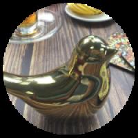 Керамическая птица. Декоративная статуэтка.
