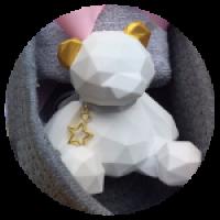 Керамический медведь. Ароматическа ястатуэтка.