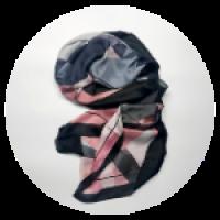 Платок. Размер – 180х90 см. Материал – искусственный шелк. Цвет – розовый, серый.